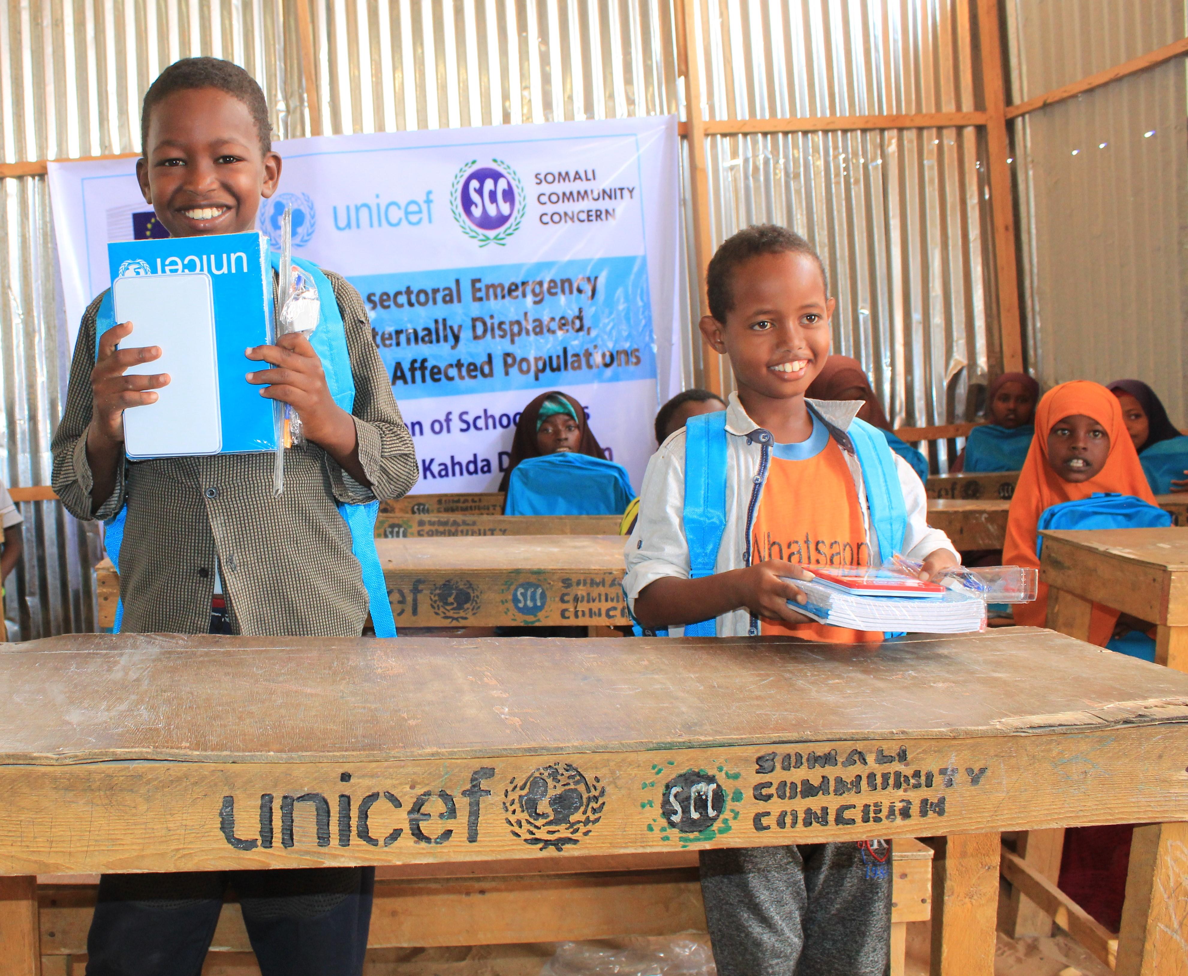 distribution of school bags in Deynile and Kahda district of Benadir region