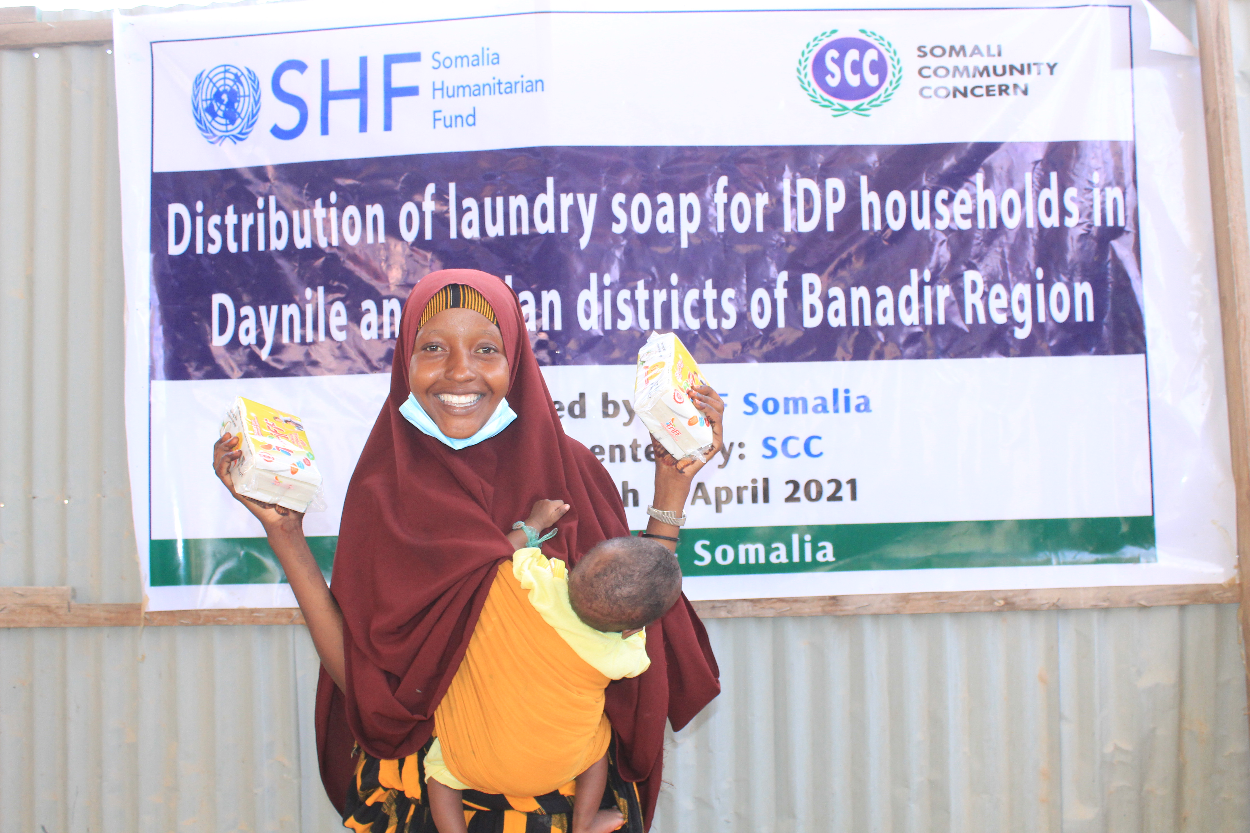 Distribution of laundry soap
