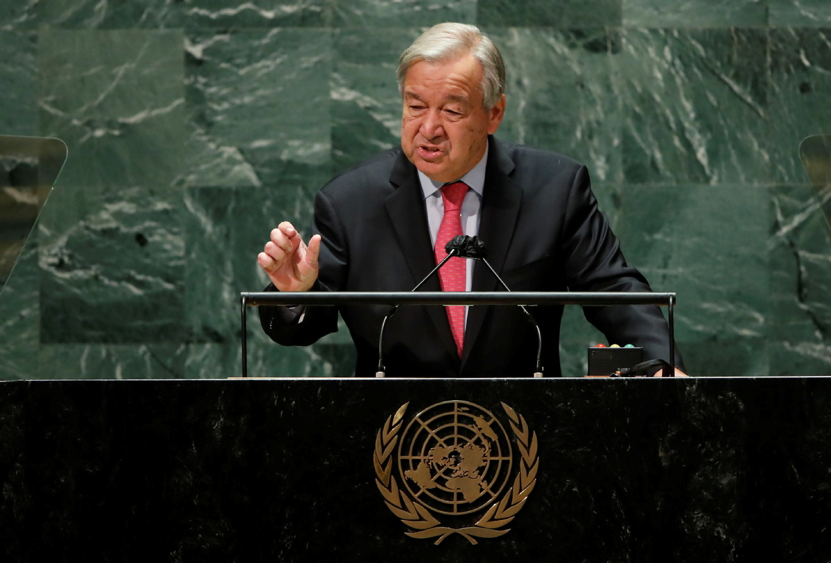 The UN's chief painted a grim picture of a divided and polarised world and urged solidarity among nations.